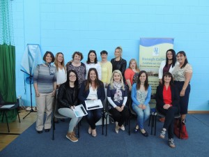 Childcare - ECCE with Special Needs Assistant Class 2015/16 with Course Co-ordinator, Susan Howard and PLC Co-ordinator, Lucinda Dillon.
