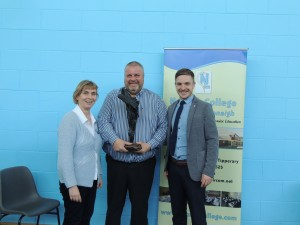 Paddy Ryan – Recipient of the Overall Student of the Year Award 2016, Paddy Ryan, with Teresa O'Gorman (Course Co-ordinator Applied Social Studies) and Ross Munnelly (Guest Speaker and Careers Advisor DCU)